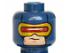Part No: 3626cpb1196  Name: Minifigure, Head Male Mask with Red and Gold Visor Pattern (Cyclops) - Hollow Stud