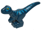 Part No: 37829pb03  Name: Dinosaur, Baby, Standing with Blue Markings and Yellow Eyes Pattern