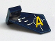 Part No: 44661pb012R  Name: Tail Shuttle, Small with Yellow 'A' and Silver Lines Pattern on Right Side (Sticker) - Set 8631
