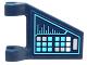 Part No: 44676pb023  Name: Flag 2 x 2 Trapezoid with Medium Azure, White and Silver Keypad Pattern (Sticker) - Set 6107300