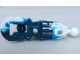 Part No: 53548pb01  Name: Bionicle Toa Inika Leg Lower Section, Marbled White Pattern