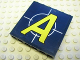 Part No: 59349pb013  Name: Panel 1 x 6 x 5 with Yellow 'A' over Crosshairs Pattern (Sticker) - Set 8635
