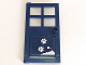 Part No: 60623pb09  Name: Door 1 x 4 x 6 with 4 Panes and Stud Handle with Snow and White Paw Prints Pattern (Sticker) - Set 41323