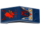 Part No: 6070pb016  Name: Windscreen 5 x 2 x 1 2/3 with Red Dragon Head and Circuitry Pattern (Stickers) - Set 70319