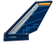 Part No: 6239pb060L  Name: Tail Shuttle with Silver Edge and Dark Blue Rudder with Circuitry Pattern on Left Side (Sticker) - Set 70315