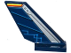 Part No: 6239pb060R  Name: Tail Shuttle with Silver Edge and Dark Blue Rudder with Circuitry Pattern on Right Side (Sticker) - Set 70315