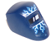 Part No: 65195pb02  Name: Minifigure, Visor Welding with Lightning Blue and White Pattern