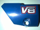Part No: 87080pb040  Name: Technic, Panel Fairing # 1 Small Smooth Short, Side A with 'V8' Pattern (Sticker) - Set 41999