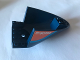 Part No: 87616pb010  Name: Aircraft Fuselage Curved Aft Section 6 x 10 Bottom with Dark Azure Stripe and Orange Triangle With 'RK60193' and 'Fuel' Pattern on Both Sides (Stickers) - Set 60193