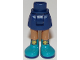 Part No: 92252c00pb016  Name: Mini Doll Friends Hips and Skirt, Medium Dark Flesh Legs and Dark Turquoise Boots with Gold Buckles Pattern