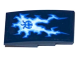 Part No: 93606pb055  Name: Slope, Curved 4 x 2 No Studs with Lightning and Ninjago Power Emblem Pattern (Sticker) - Set 70602
