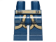 Part No: 970c00pb0605  Name: Hips and Legs with SW U-Wing Pilot Dark Tan Belts Pattern