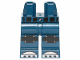 Part No: 970c00pb0903  Name: Hips and Legs with Black Knee Pads with Belts and Silver Toe Plates Pattern