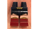 Part No: 970c59pb06  Name: Hips and Dark Red Legs with Gold Buckle, Dark Blue Skirt, Light Flesh Legs and Boots with Gold Trim Pattern
