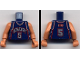 Part No: 973bpb132c01  Name: Torso NBA New Jersey Nets #5 Pattern / Flesh NBA Arms