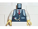 Part No: 973pb0008c01  Name: Torso Train Logo, Blue Vest w/ Tie, Watch Fob Pattern (Conductor Charlie) / White Arms / Yellow Hands