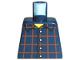 Part No: 973pb0086  Name: Torso Plaid Button Shirt Pattern