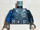 Part No: 973pb0121c01  Name: Torso Alpha Team Logo, Utility Belt w/ Gauge, Divided Blue Stripe Pattern (Set 4790) / Dark Blue Arm Left / Blue Arm Right / Black Hands