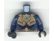 Part No: 973pb0156c01  Name: Torso Exo-Force Gold Body Armor with Wing Pattern / Dark Blue Arms / Black Hands