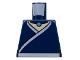 Part No: 973pb0399  Name: Torso Avatar White Robe Trim and Belt, Light Blue Necklace Gem Pattern