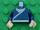 Part No: 973pb0399c01  Name: Torso Avatar White Robe Trim and Belt, Light Blue Necklace Gem Pattern / Dark Blue Arms / Light Flesh Hands