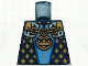 Part No: 973pb0574  Name: Torso Castle Fantasy Era with Gold Chain, Medallion and Gold Detail Pattern