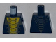 Part No: 973pb1198  Name: Torso Ninjago Snake with Yellow and Dark Bluish Gray Scales Pattern (Slithraa)