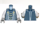 Part No: 973pb1199c01  Name: Torso Ninjago Snake with Yellow and Light Bluish Gray Scales Pattern (Mezmo) / Light Bluish Gray Arms / Dark Bluish Gray Hands