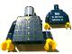 Part No: 973pb1378c01  Name: Torso Studios Plaid Button Shirt Front, 2012 The LEGO Store Alpharetta, GA Back Pattern / Dark Blue Arms / Yellow Hands