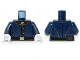 Part No: 973pb1431c01  Name: Torso The Lone Ranger Cavalry Uniform, 5 Buttons, Belt Pattern / Dark Blue Arms / White Hands