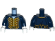 Part No: 973pb1930c01  Name: Torso Pirate Bluecoat Governor Pattern / Dark Blue Arms / White Hands