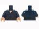 Part No: 973pb1968c01  Name: Torso Female Jumpsuit with Silver Zipper and Black Utility Belt Pattern / Dark Blue Arm Left / Dark Blue Arm Right with SHIELD Logo Pattern / Light Nougat Hands