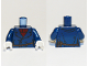 Part No: 973pb2073c01  Name: Torso Pea Coat over Dark Red Crew Neck Sweater, Rope Belt Pattern (Lighthouse Keeper) / Dark Blue Arms / White Hands