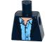 Part No: 973pb2374  Name: Torso Open Suit Jacket with Medium Blue Shirt Open Collar Pattern
