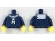 Part No: 973pb2892c01  Name: Torso Sailor Uniform with White Scarf Pattern / Dark Blue Arms / Yellow Hands