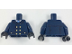 Part No: 973pb2903c01  Name: Torso Coat with Light Blue Tie and Gold Buttons Pattern / Dark Blue Arm Left / Dark Blue Arm Right with Gold Police Badge Pattern / Black Hands