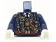 Part No: 973pb3013c01  Name: Torso Military Uniform with Medals and Dark Red Sash Pattern / Dark Blue Arms  / White Hands