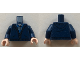 Part No: 973pb3217c01  Name: Torso Hoodie with Zipper over Blue and Gray Shirt Pattern / Dark Blue Arms / Light Nougat Hands
