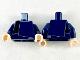 Part No: 973pb3525c01  Name: Torso Layer Shirt with Dark Blue and Black Panels Pattern / Dark Blue Arms / Light Flesh Hands