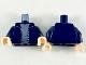 Part No: 973pb3596c01  Name: Torso Jacket with Silver Zipper and Sand Blue Shirt Pattern / Dark Blue Arms / Light Flesh Hands