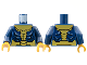Part No: 973pb3838c01  Name: Torso Armor with Gold Trim Pattern / Dark Blue Arms / Pearl Gold Hands