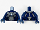 Part No: 973pb3954c01  Name: Torso Armor, Silver Plates and Metallic Blue Circle Arc Reactor Pattern / Dark Blue Arms / Dark Blue Hands