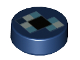 Part No: 98138pb100  Name: Tile, Round 1 x 1 with Pixelated Blue and Black Pattern (Minecraft Ender Pearl)