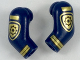 Part No: 981982pb156  Name: Arm, (Matching Left and Right) Pair with Gold Police Badge and Stripes Pattern