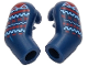 Part No: 981982pb246  Name: Arm, (Matching Left and Right) Pair with Medium Blue and Red Lines Pattern
