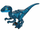 Part No: Raptor11  Name: Dinosaur, Raptor / Velociraptor with Blue Markings and Blue Eye Patch