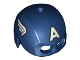 Part No: bb0889pb01  Name: Minifigure, Headgear Helmet Mask, Hole on Top with White 'A' and Wings on Sides Pattern (Captain America)