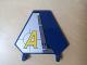 Part No: x1435pb002L  Name: Flag 5 x 6 Hexagonal with Yellow Agents Logo Pattern Model Left (Sticker) - Set 8630