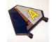 Part No: x1435pb002R  Name: Flag 5 x 6 Hexagonal with Yellow Agents Logo Pattern Model Right (Sticker) - Set 8630
