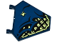 Part No: x1435pb020L  Name: Flag 5 x 6 Hexagonal with Dark Blue Cloth over Samurai Armor and Spider Pattern Model Left Side (Sticker) - Set 70737